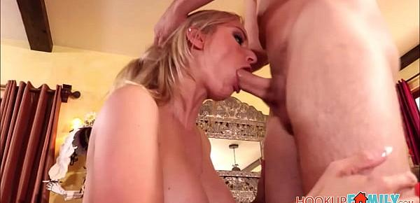 Sexy Big Tits Blonde MILF Step Mom Rachael Cavalli Has Sex With Step Son After His Dad Cancels