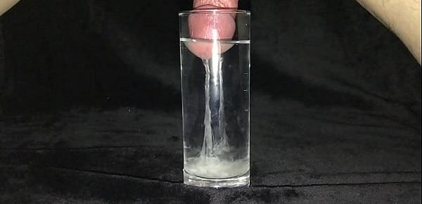 Cumshot in a Glass of Water 2