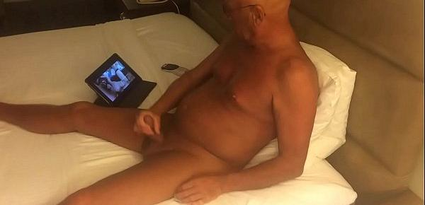 Masturbating while watching porn