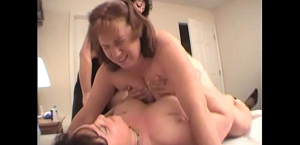 Two Lesbians Fuck Redhead Dawn With A Strapon Dildo Til She Cums Multiple Times