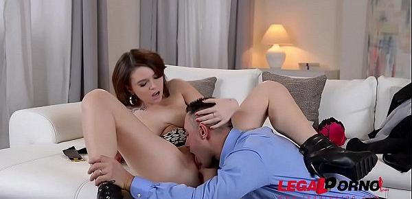 Russian Redhead Marina Visconti gets her big titties and ass fucked hard GP182