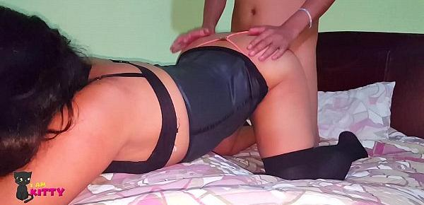 Perverted Mom with big ass Sucks son´s Cock - Real Porn Amateur