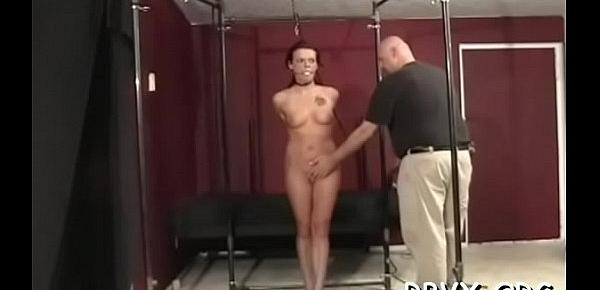 Nipple torture and vibrator play for ballgagged doxy