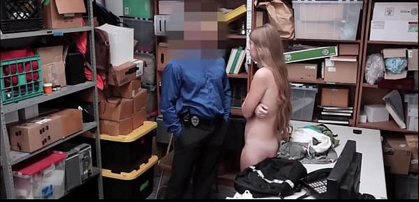 Cute Blonde Teen Alyce Anderson Caught Stealing Fucked By Horny Security Guard After Making Deal