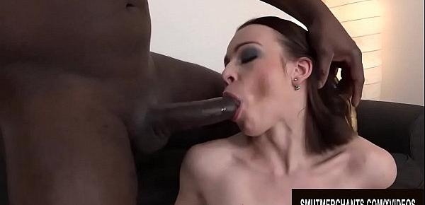 Teen Babe Lindsey Sheron Prepares Her Asshole for a Hard Black Cock