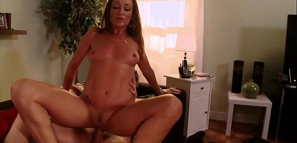 After a glass of wine, mom gets fucked intensely by her son