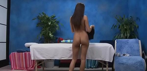 Gorgeous honey gets a hard fuck after a carnal massage