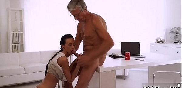 Old man fuck young girl Liliane fell in love with her older manager