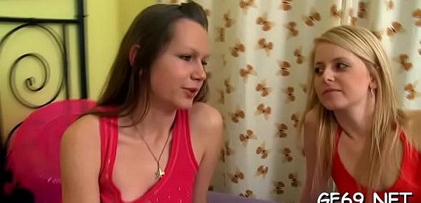 Wicked babe gets hardcore fucking from sexually excited dudes