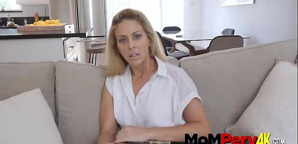 Hot milf ignores her horny stepson with a hard cock