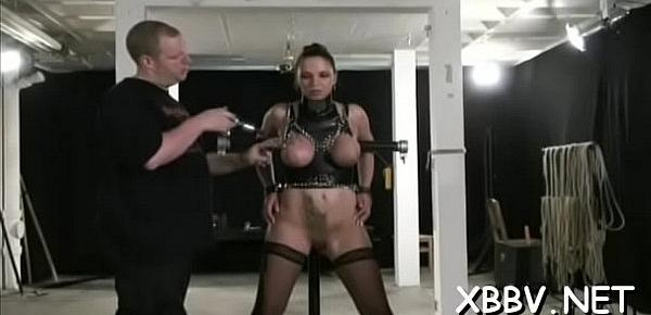 Horny woman gets love wobblers torture xxx in harsh bdsm video