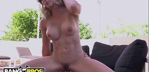 BANGBROS - Blonde MILF Cory Chase Gets Fucked On The Roof By Young Evan Cox