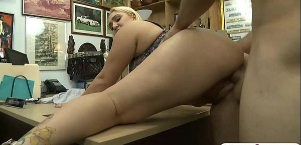 Huge ass and big boobs woman pussy rammed by pawn dude