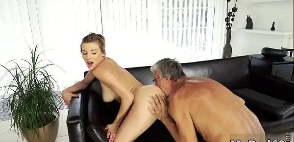 Old man sucking tits xxx Sex with her boypal´s father after swimming