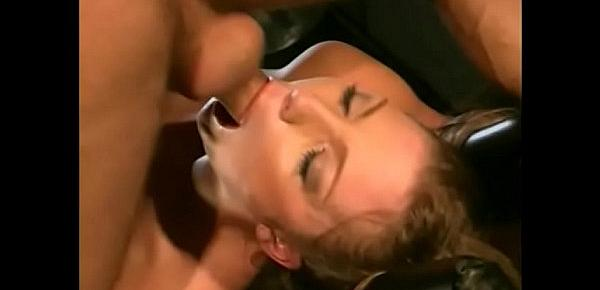 Horny slut gets double penetrated and loves it
