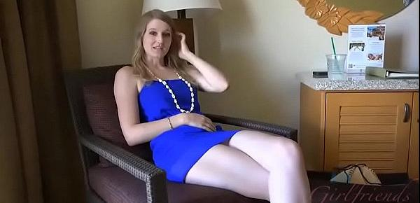 Pale girlfriend tall athletic blonde with big ass Summer Carter in amateur sex vacation