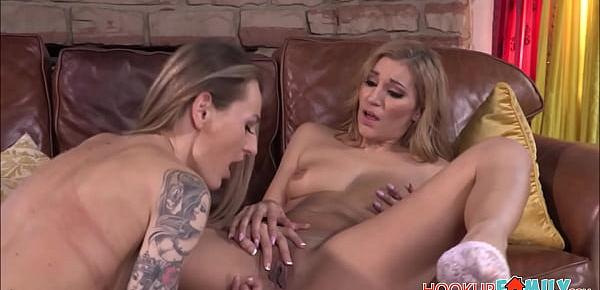 Sexy Big Tits MILF Stepmom Natasha Starr Teaches And Shares Orgasms With Her Hot Latina Teen Stepdaughter Moka Mora