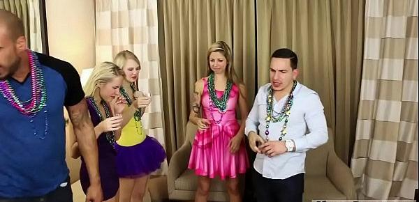 Amateur teen babysitter blowjob and fit casting couch Mardi Gras