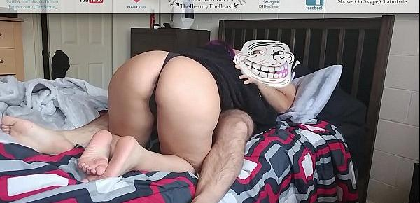 Best Morning BJ Ever! Sexy Nice Booty Latina In Thong Blowjob!