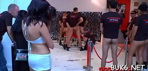 Sexy darlings get sexual fuck session at the studio