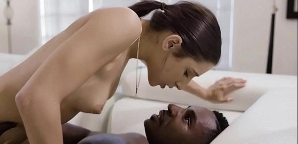 Abella Danger was spying on her hot ebony neighbor.She went to his house and started a hot sex with him and enjoyed fucking his big black cock.